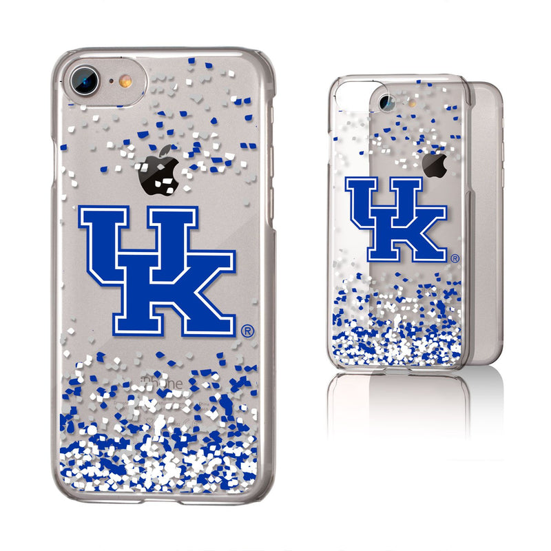 University of Kentucky Clear Slim Confetti Phone Case (iPhone)
