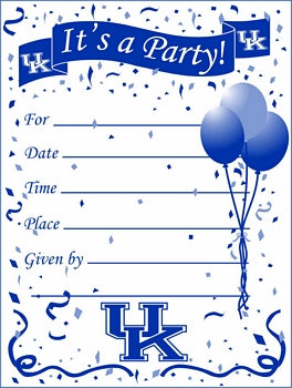 University of Kentucky Party Invitations