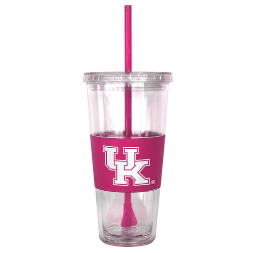 University of Kentucky Double Wall Straw Tumbler (Pink)