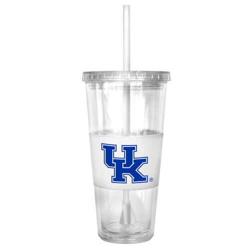 University of Kentucky Double Wall Straw Tumbler (White)