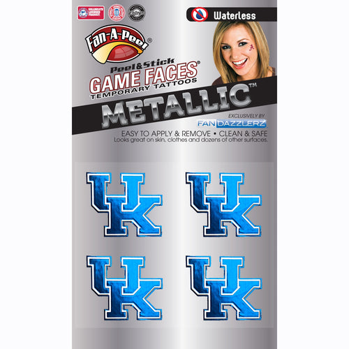 University of Kentucky Metallic Peel and Stick Tattoos