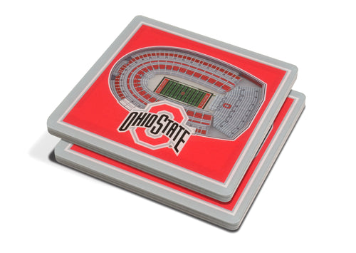 Ohio State University 3D Ohio Stadium Coasters (2-Pack)