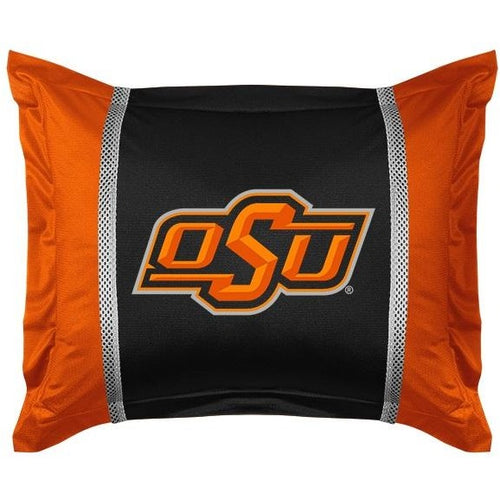 Oklahoma State University Pillow Sham with Jersey Mesh
