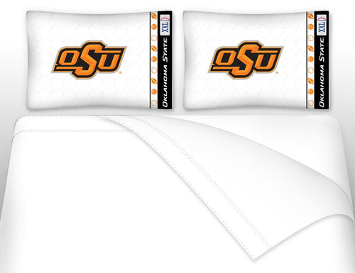 Oklahoma State University Microfiber Sheet Set