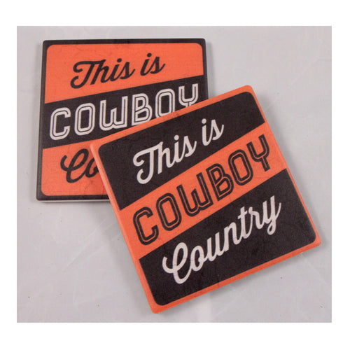 Oklahoma State University Thirsty Coaster 4-Pack