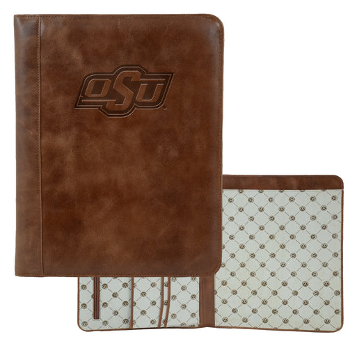 Oklahoma State University Westbridge Leather Pad Holder