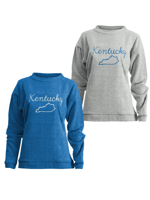 Kentucky Ladies Terry Long Sleeve Comfy Pullover
