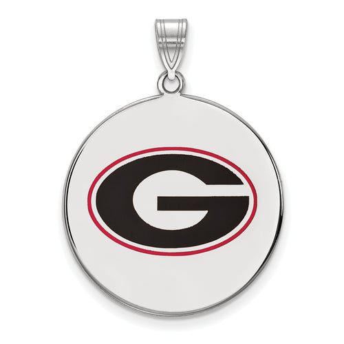 University of Georgia Logo Enameled Pendant