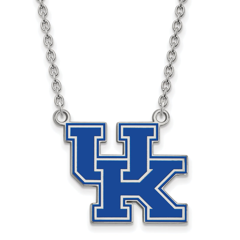 University of Kentucky Enamel Sterling Silver Pendant Necklace