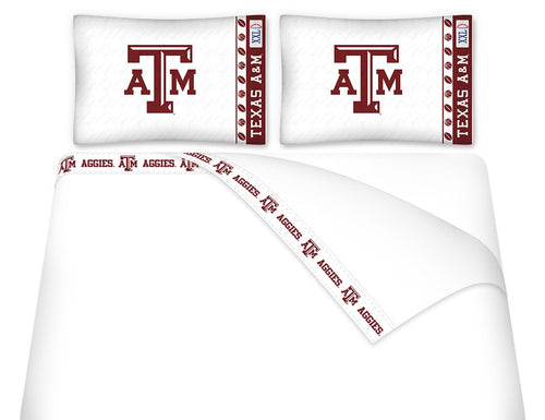 Texas A&M University Microfiber Sheet Set