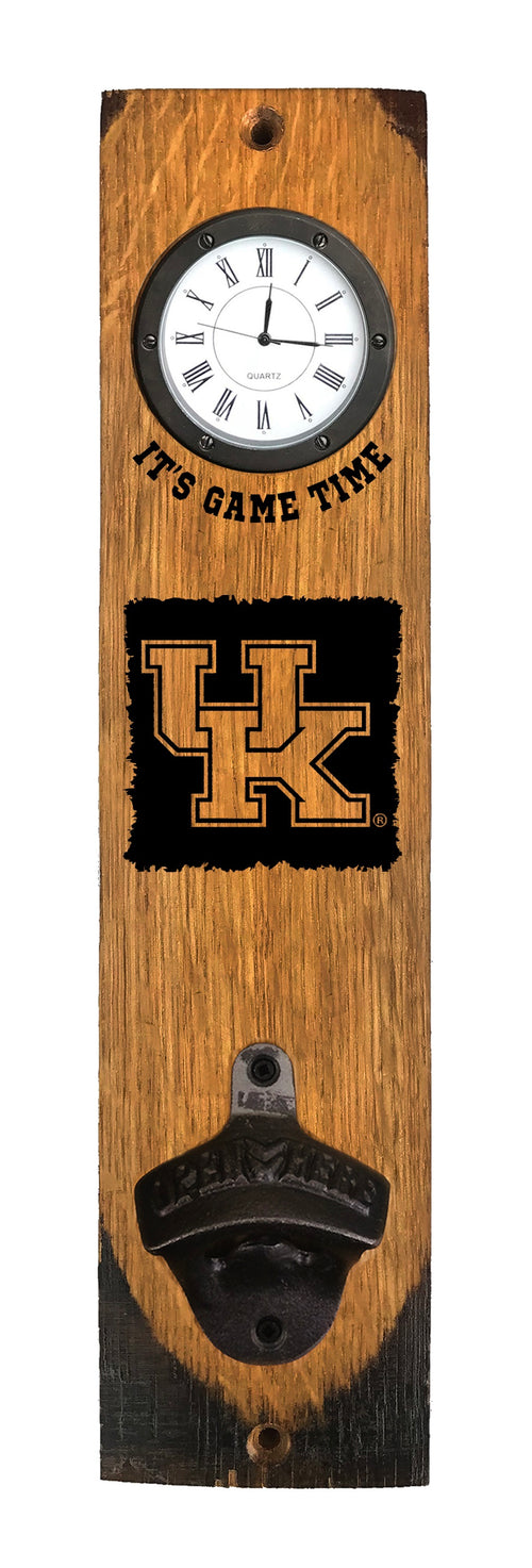 University of Kentucky Bottle Opener with Clock