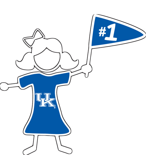 University of Kentucky Stick Figure Daughter Decal