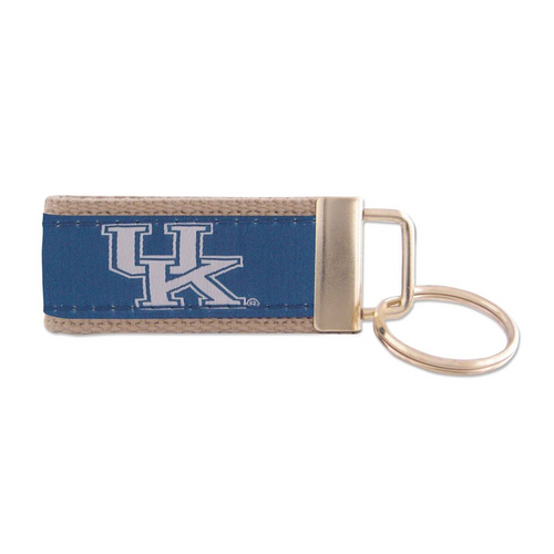 University of Kentucky Woven Ribbon Key Chain