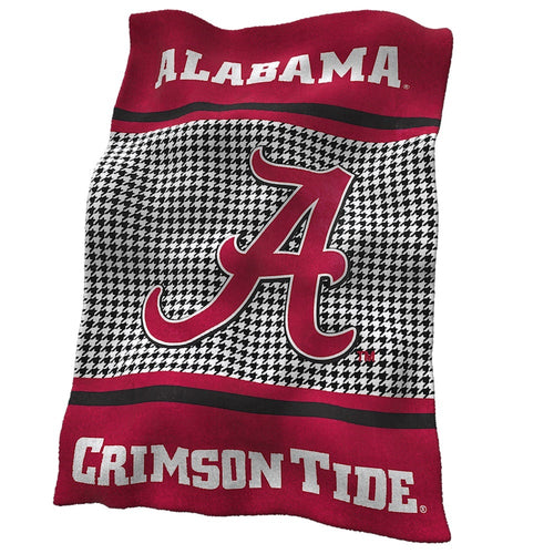 University of Alabama Houndstooth Ultra Soft Blanket