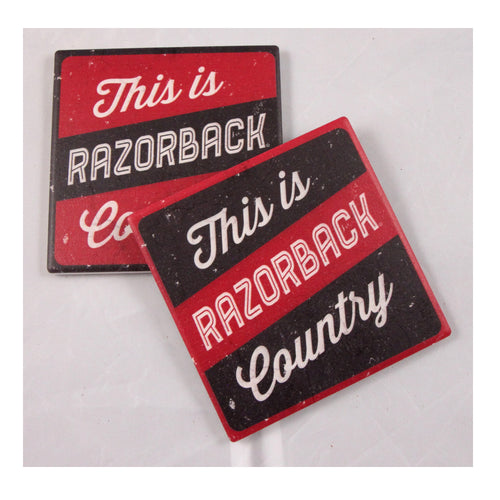 University of Arkansas Thirsty Coaster 4-Pack