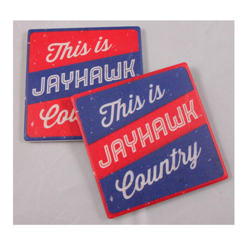University of Kansas Thirsty Coaster 4-Pack