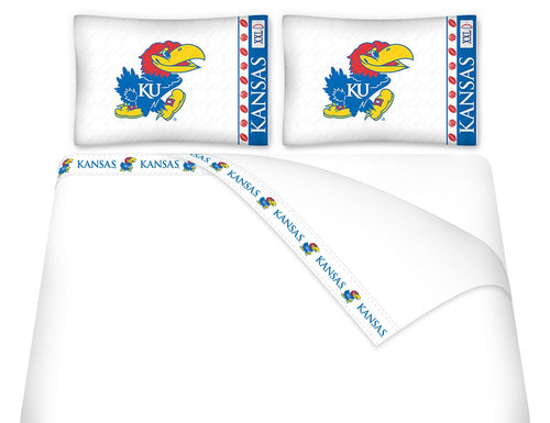 University of Kansas Microfiber Sheet Set