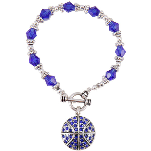 University of Kentucky Crystal Basketball Toggle Bracelet