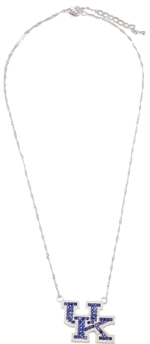 University of Kentucky Crystal Logo Necklace