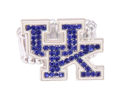 University of Kentucky Crystal Logo Stretch Ring