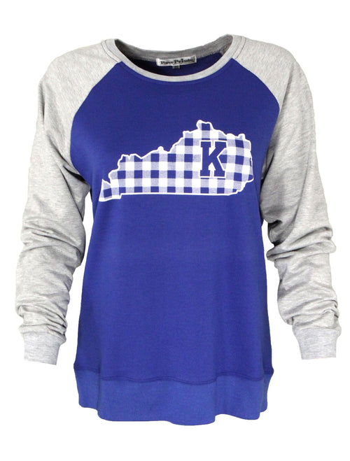 University of Kentucky Gingham State Long Sleeve