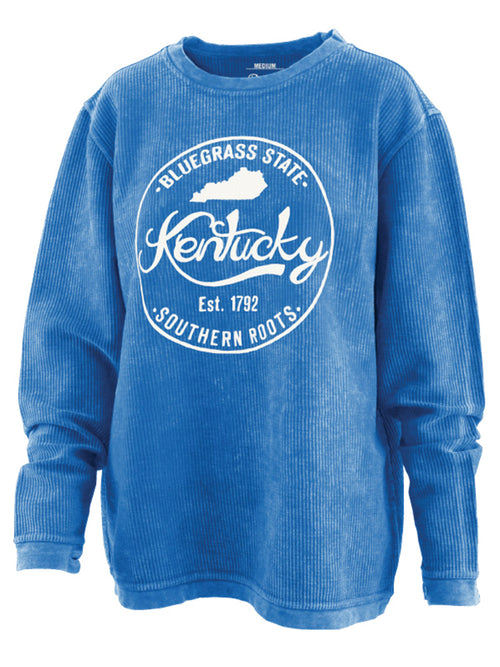 Kentucky Southern Roots Vintage Washed Comfy Cord Pullover