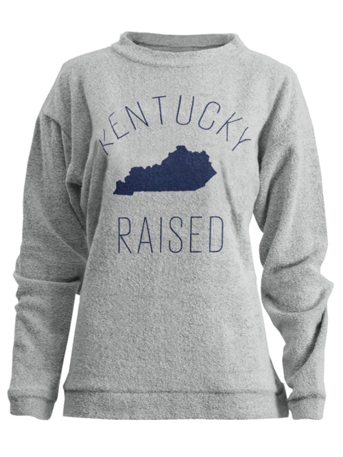 Kentucky Raised Ladies Terry Long Sleeve Comfy Pullover