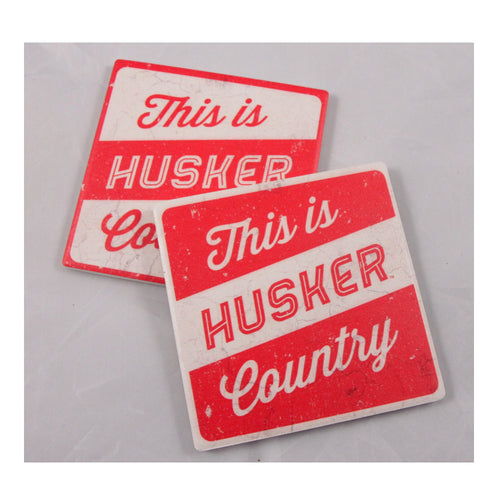 University of Nebraska Thirsty Coaster 4-Pack