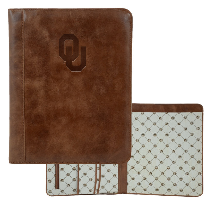 University of Oklahoma Westbridge Leather Pad Holder
