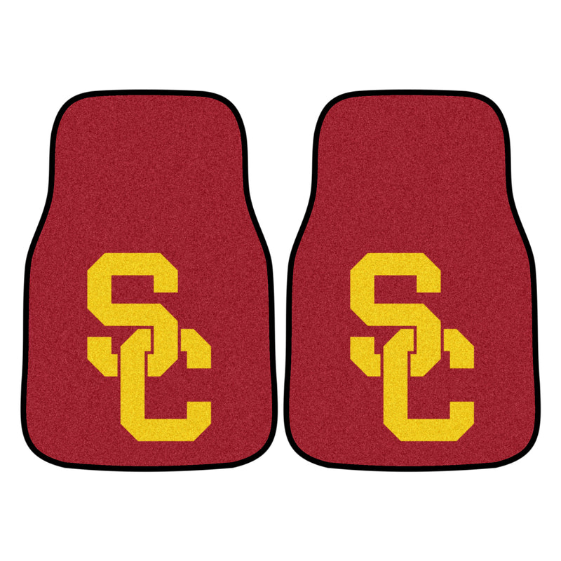 University of Southern California Carpet Car Floor Mats - 2-Piece