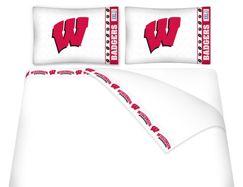 University of Wisconsin Microfiber Sheet Set