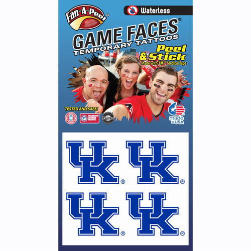 University of Kentucky Waterless Temporary Tattoos