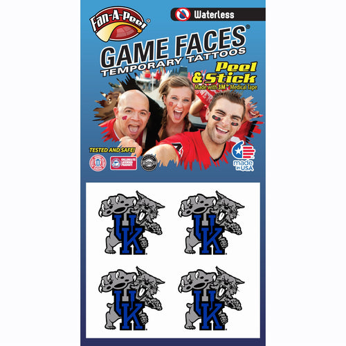 University of Kentucky Wildcats Waterless Temporary Tattoos