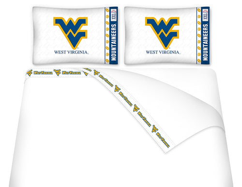 West Virginia University Microfiber Sheet Set