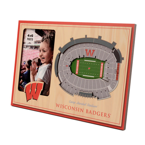 University of Wisconsin 3D Picture Frame - Camp Randall Stadium