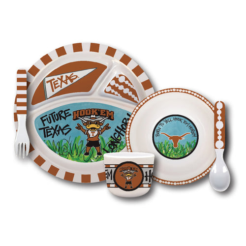 University of Texas Melamine Kids Dish Set