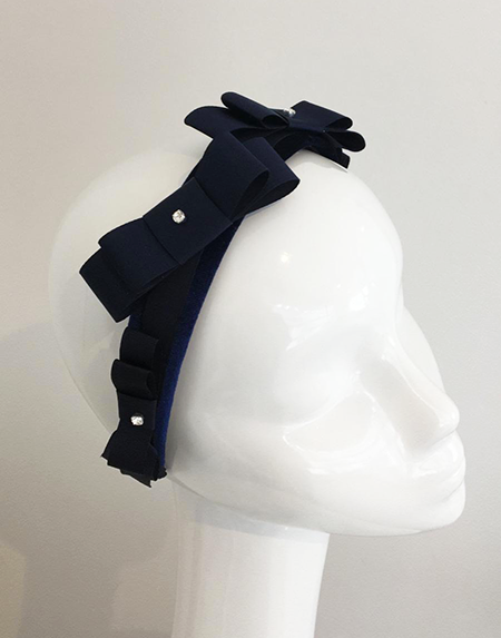 French Navy Alice Headband