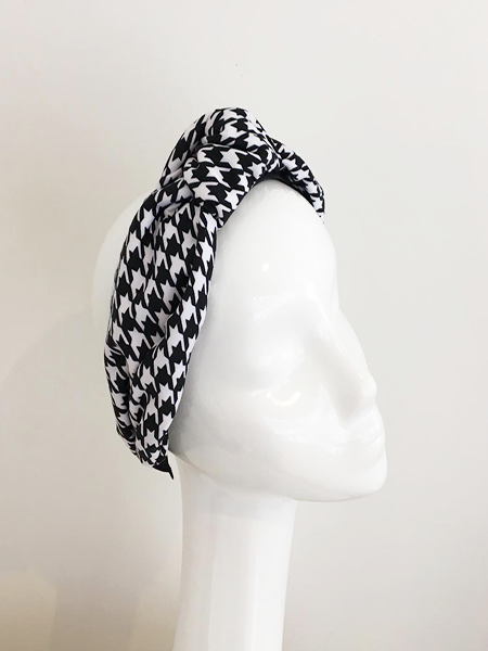 Houndstooth Print Turband