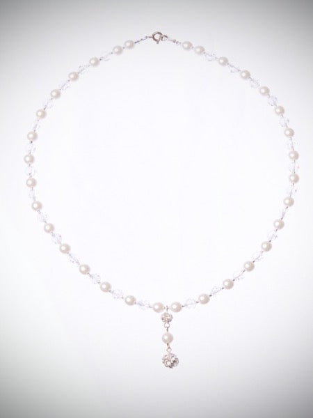 Pearl & Crystal pendent necklace