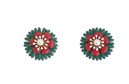 Lotus Flower Clip On Earrings