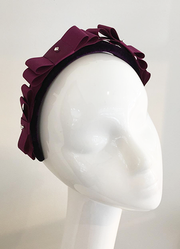 Maroon Alice headband