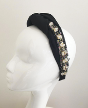 Luxury Tweed Twisted Turband in black
