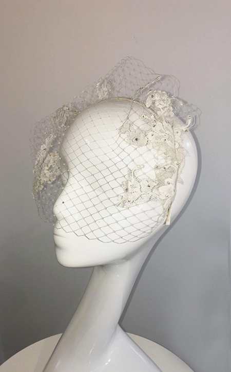 Chantilly Lace Bridal Eye Veil