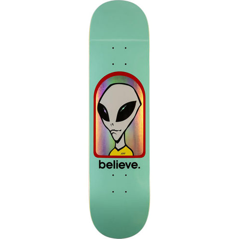 ALIEN WORKSHOP BELIEVE HOLOGRAM DECK-8.0 TEAL