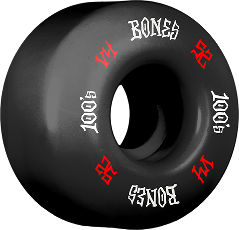 BONES 100's OG #12 V4 52mm BLACK W/RED/WHT ppp