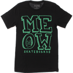 MEOW STACKED LOGO SS BLACK