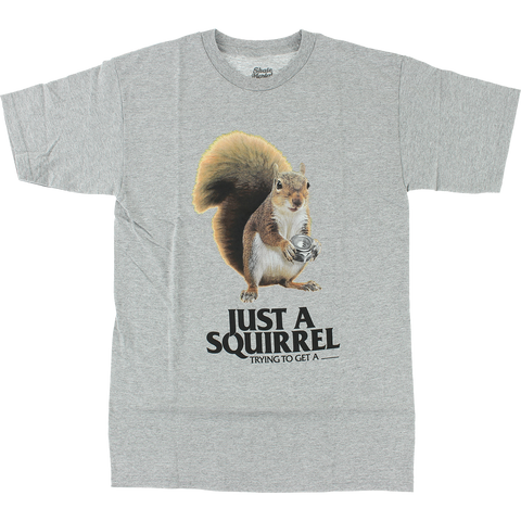 SKATE MENTAL SQUIRREL SS HEATHER GREY
