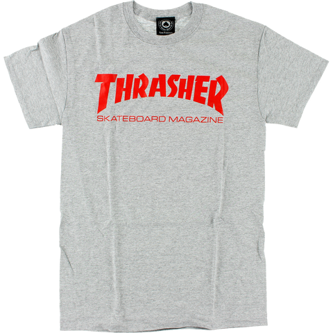 THRASHER SKATE MAG SS HEATHER/RED