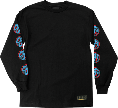 OJ BRUSH LOGO L/S BLACK