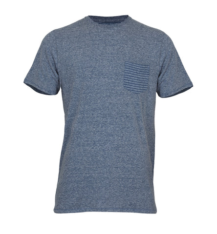 SOUTH CROSS Blue Pocket Tee